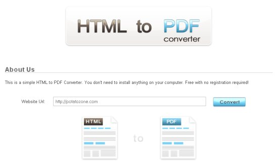 Online HTML to PDF Converter