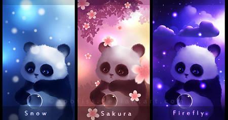 دانلود رایگان تم های پولی اندروید Panda، تصویر پسزمینه زنده برای اندروید | PotatoZone